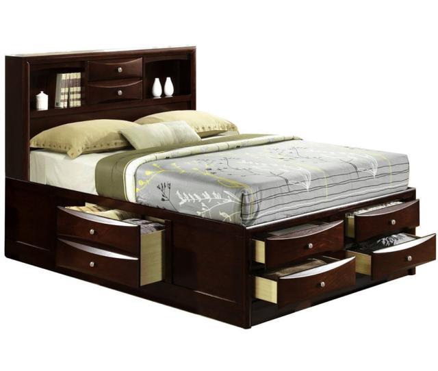 Orleans Cherry Queen Storage Bed