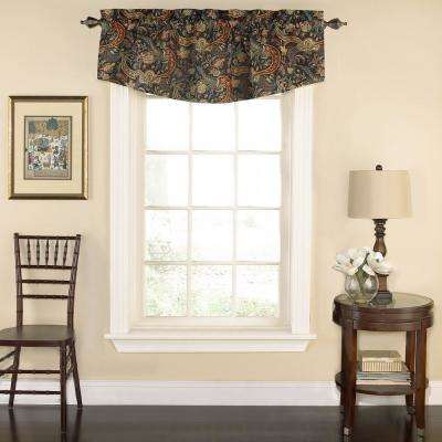 kitchen valance mid century chairs window scarves valances treatments the home depot 18 in l rhapsody floral cotton lined