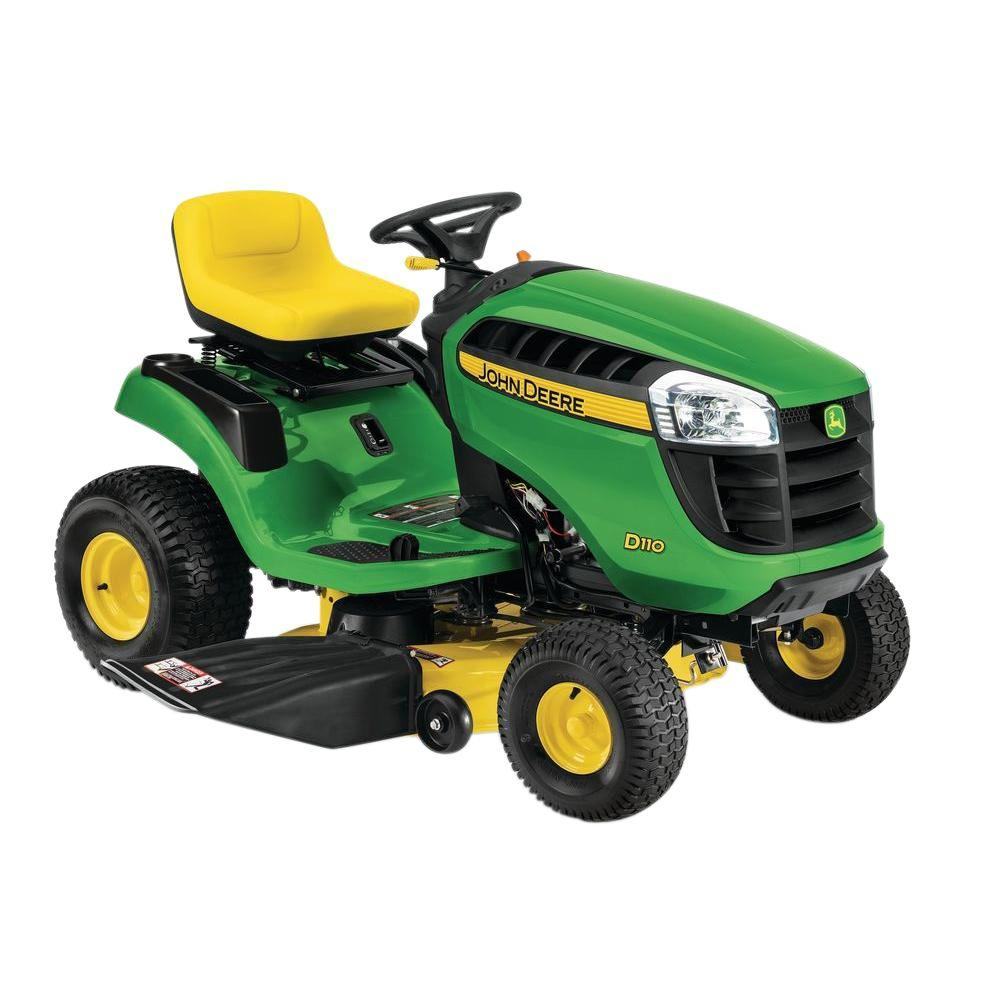 medium resolution of john deere d110 42 in 19 hp gas hydrostatic front engine lawn tractor