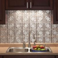 18 in. x 24 in. Traditional 4 PVC Decorative Backsplash ...
