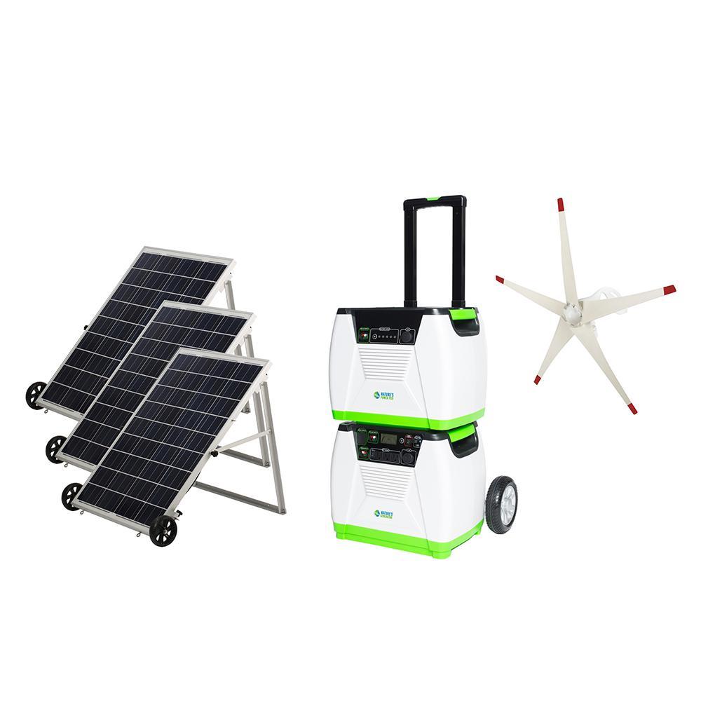 NATURE'S GENERATOR 1800-Watt Solar Powered Electric Start