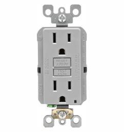 leviton 15 amp self test smartlockpro slim duplex gfci outlet gray leviton gfci receptacle wiring leviton gfci wiring [ 1000 x 1000 Pixel ]