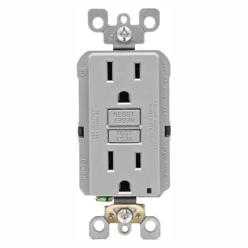 small resolution of leviton 15 amp self test smartlockpro slim duplex gfci outlet gray leviton gfci receptacle wiring leviton gfci wiring