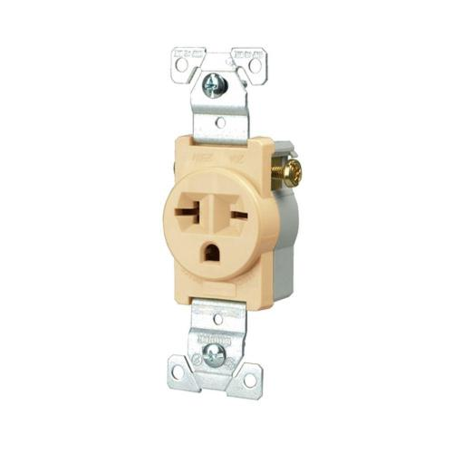 small resolution of eaton commercial grade 20 amp straight blade single receptacle with side wiring ivory
