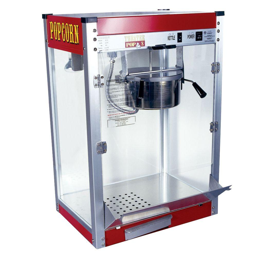 hight resolution of theater pop 8 oz red stainless steel countertop popcorn machine