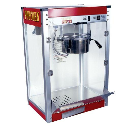 small resolution of theater pop 8 oz red stainless steel countertop popcorn machine
