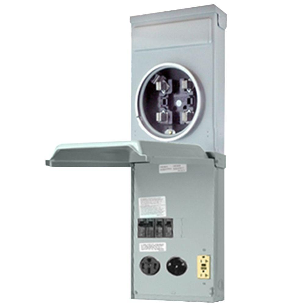 hight resolution of rv outlet box 100 amp 120 240 volt ring type metered with 50 amp 30 amp and 20 amp gfci circuit protected receptacles