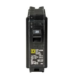 square d homeline 20 amp single pole circuit breaker [ 1000 x 1000 Pixel ]
