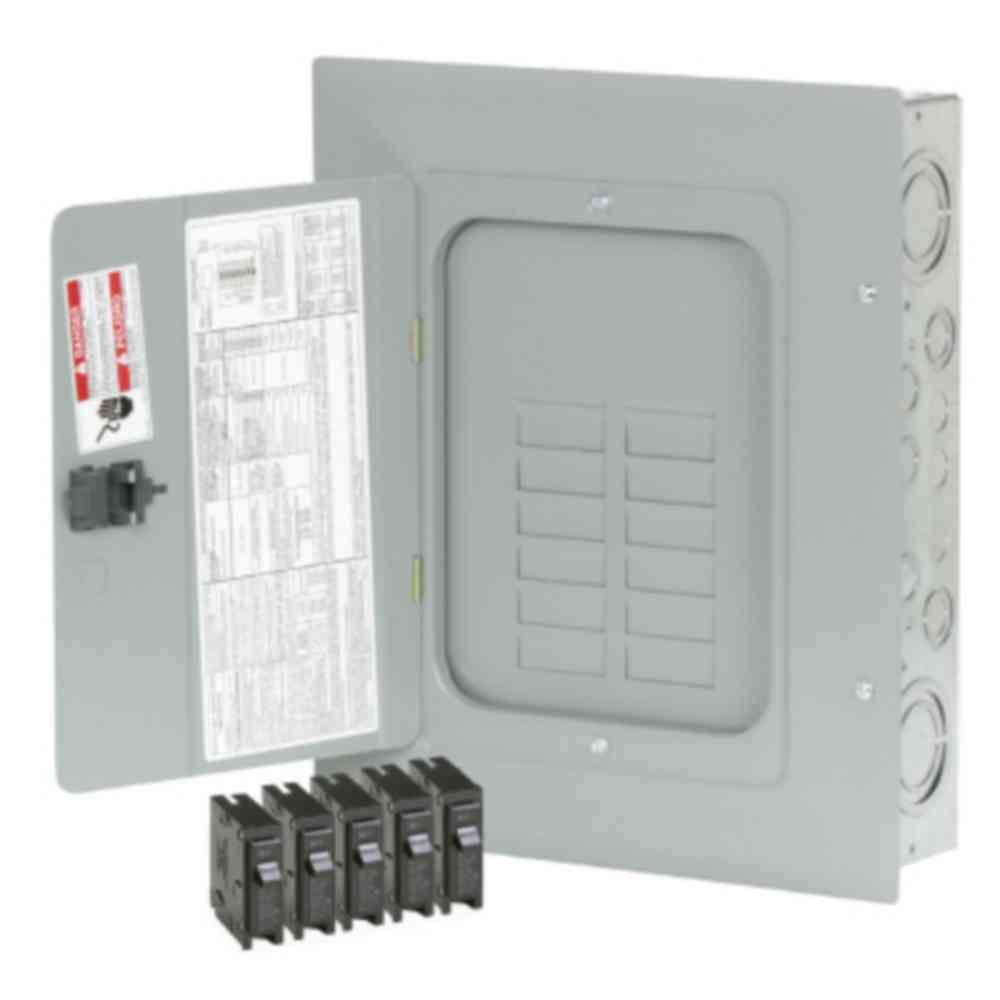 medium resolution of br 125 amp 12 space 24 circuit indoormain lug loadcenter with cover value pack includes