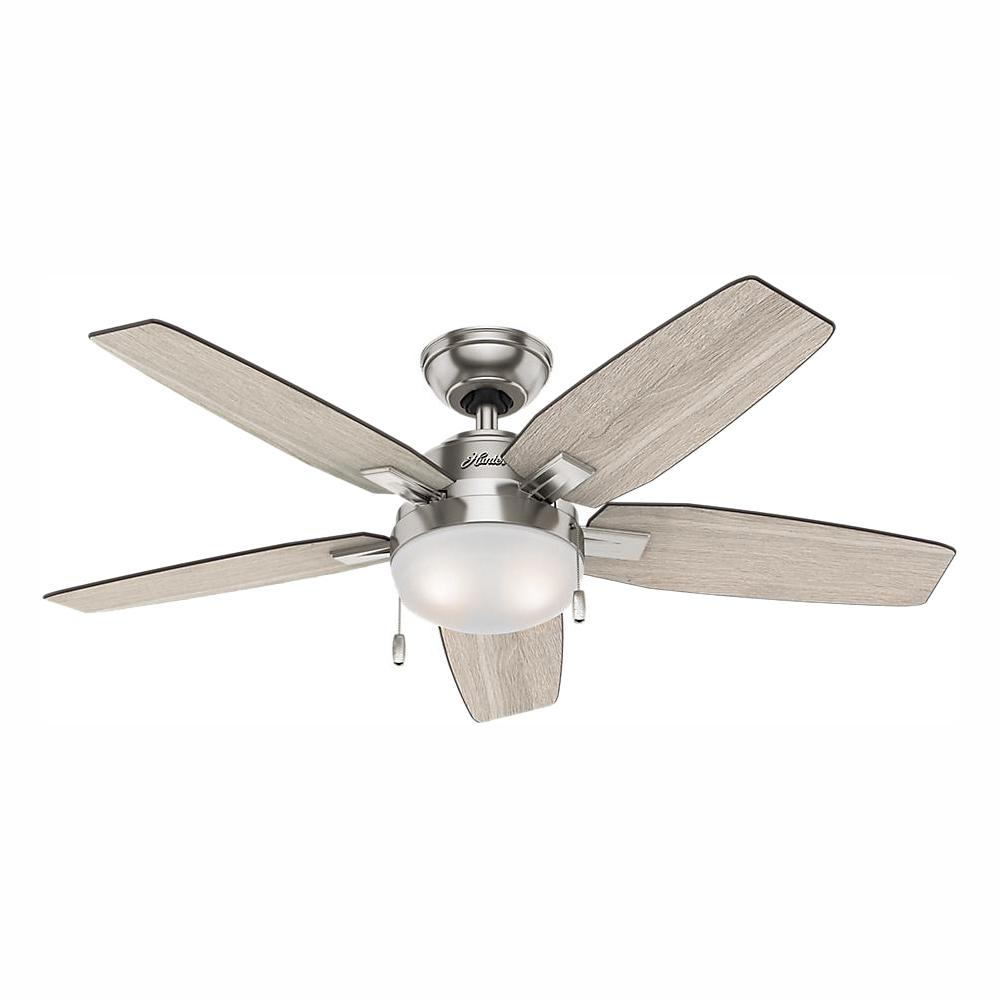 medium resolution of hunter antero 46 in led indoor brushed nickel ceiling fan with light