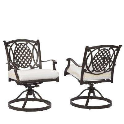 black metal patio chairs that rock and swivel outdoor dining the home depot belcourt custom rocking