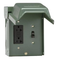 20 amp backyard outlet with switch and gfi receptacle [ 1000 x 1000 Pixel ]