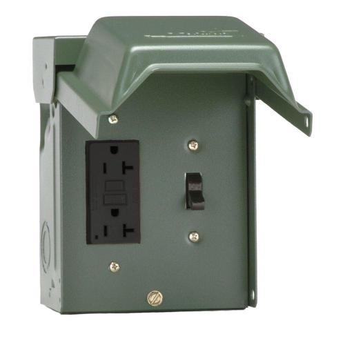 small resolution of 20 amp backyard outlet with switch and gfi receptacle