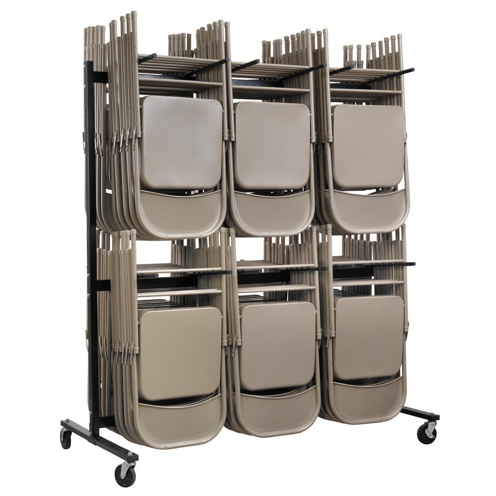 folding chair racks diy swivel no wheels uk utility carts garage storage the home depot 1000 lbs 2 tier steel cart