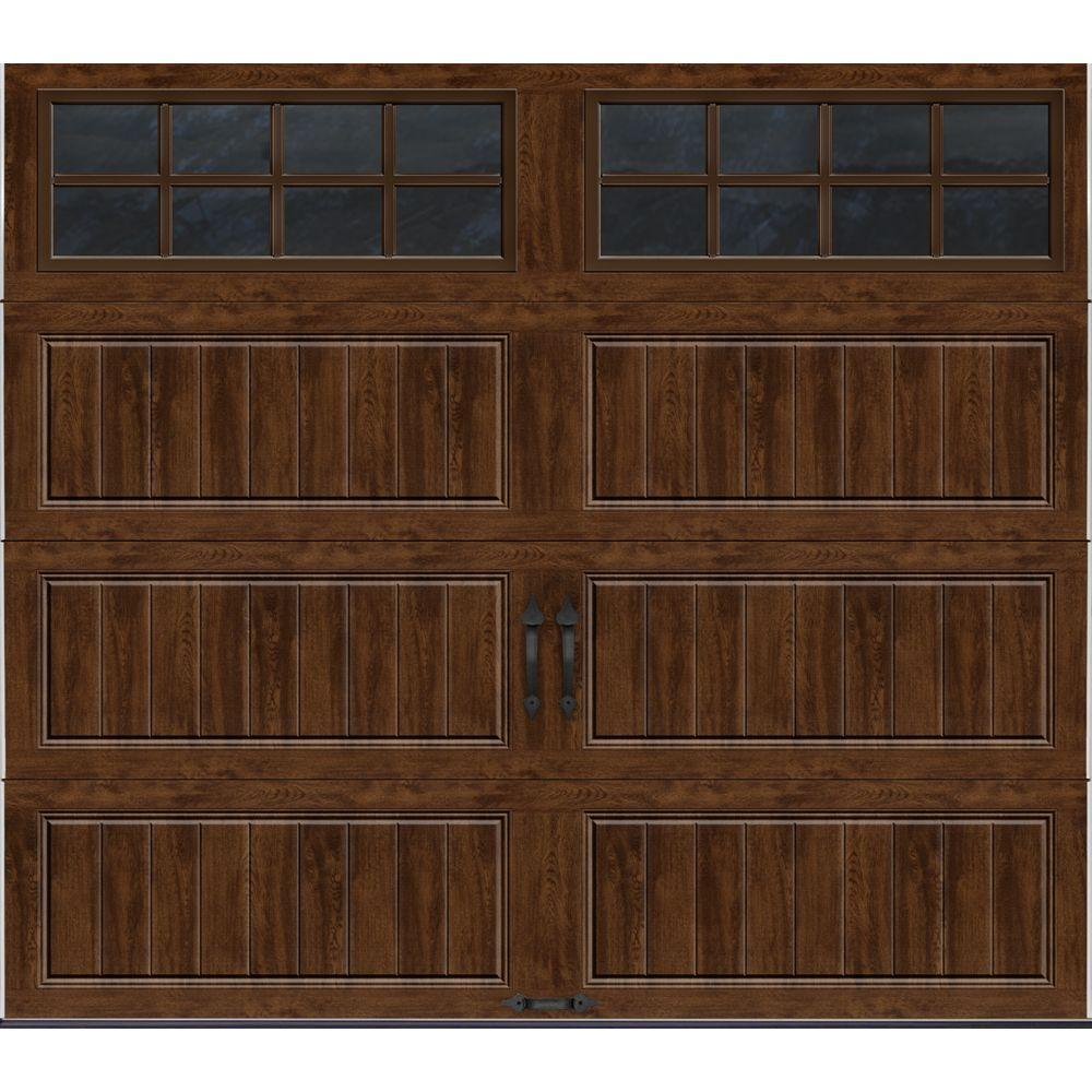 Clopay Gallery Collection 8 ft x 7 ft 184 RValue Intellicore Insulated UltraGrain Walnut
