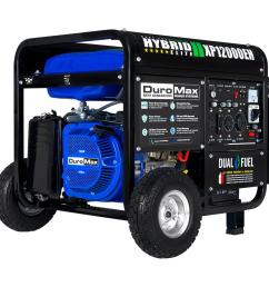 12000 9500 watt 18 hp dual fuel powered portable hybrid electric start gasoline propane generator [ 1000 x 1000 Pixel ]
