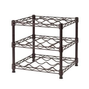 HDX 3-Shelf Countertop Wire Wine Rack in Antique Bronze