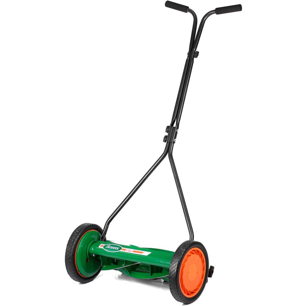 medium resolution of scotts scott s 16 in manual walk behind push reel lawn mower