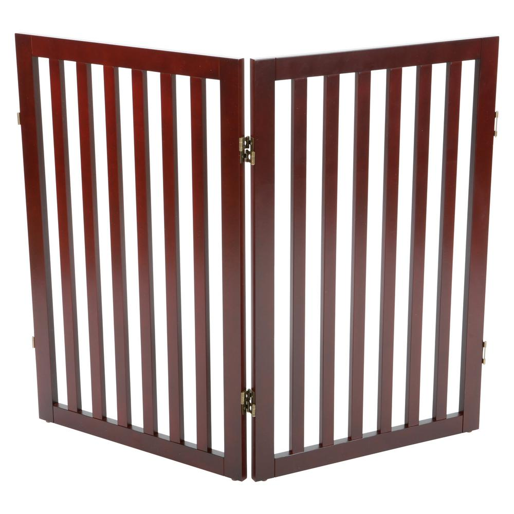 Trixie Brown Pet Gate Wooden 2 Panel Pet Gate Extension