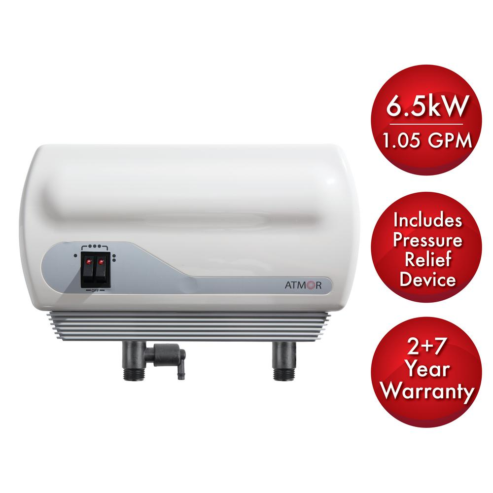medium resolution of 6 5kw 240 volt 1 05 gpm electric tankless water heater with pressure relief
