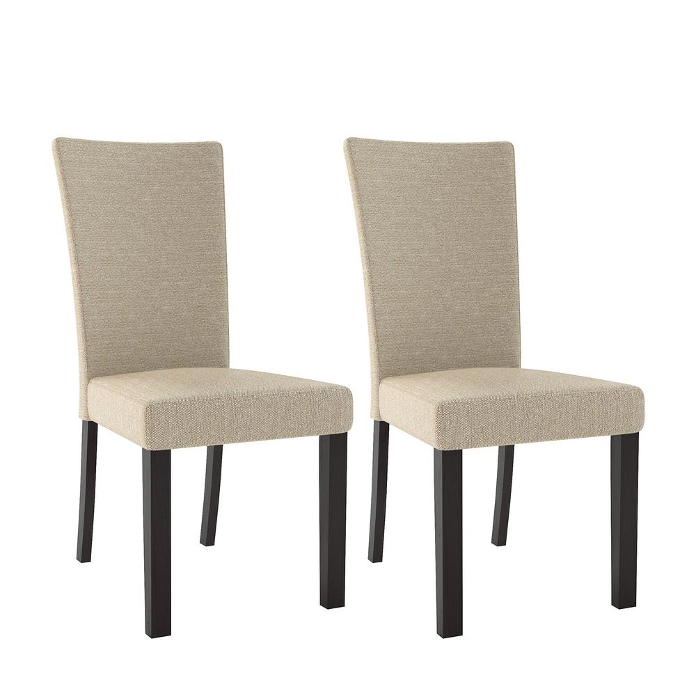 dining chairs fabric learning chair fisher price corliving bistro woven cream set of 2 drc 875