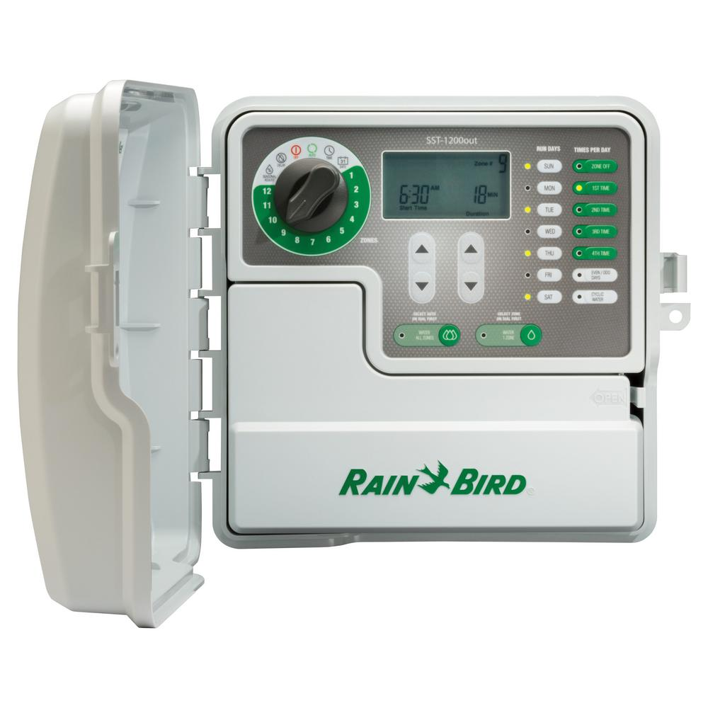 medium resolution of rain bird 12 station indoor outdoor simple to set irrigation timer electronic controller wired to sprinkler system