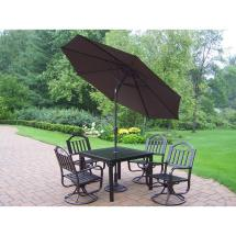 Oakland Living Rochester 9-piece Patio Dining Set With 2