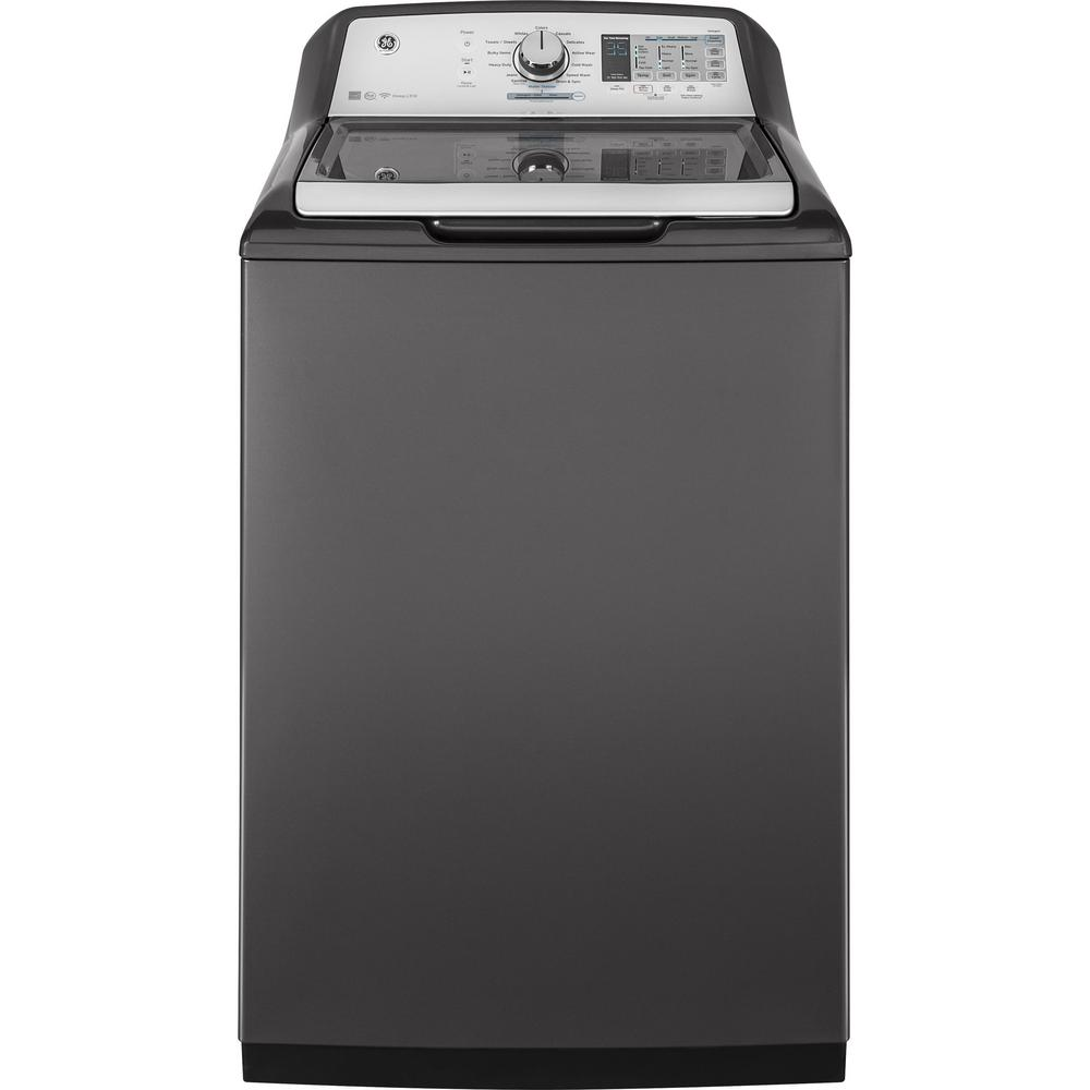 medium resolution of ge 5 0 cu ft high efficiency diamond gray top load washing machine and wi fi connected with smartdispense energy star gtw750cpldg the home depot