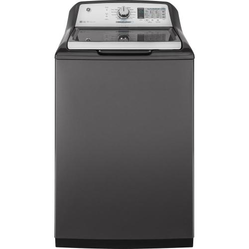 small resolution of ge 5 0 cu ft high efficiency diamond gray top load washing machine and wi fi connected with smartdispense energy star gtw750cpldg the home depot