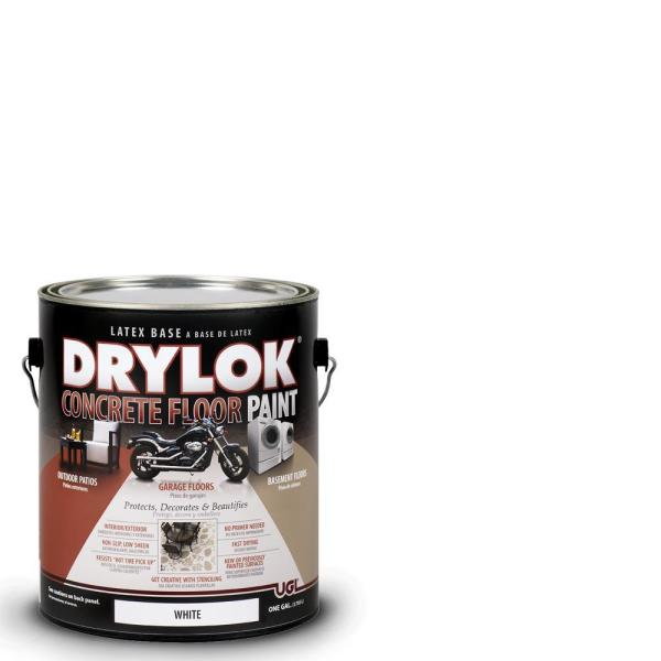 Drylok 1 Gal. White Latex Concrete Floor Paint-209153 - Home Depot