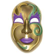 Amscan 21 In. Mardi Gras Gold Plastic Mask 3d Decoration