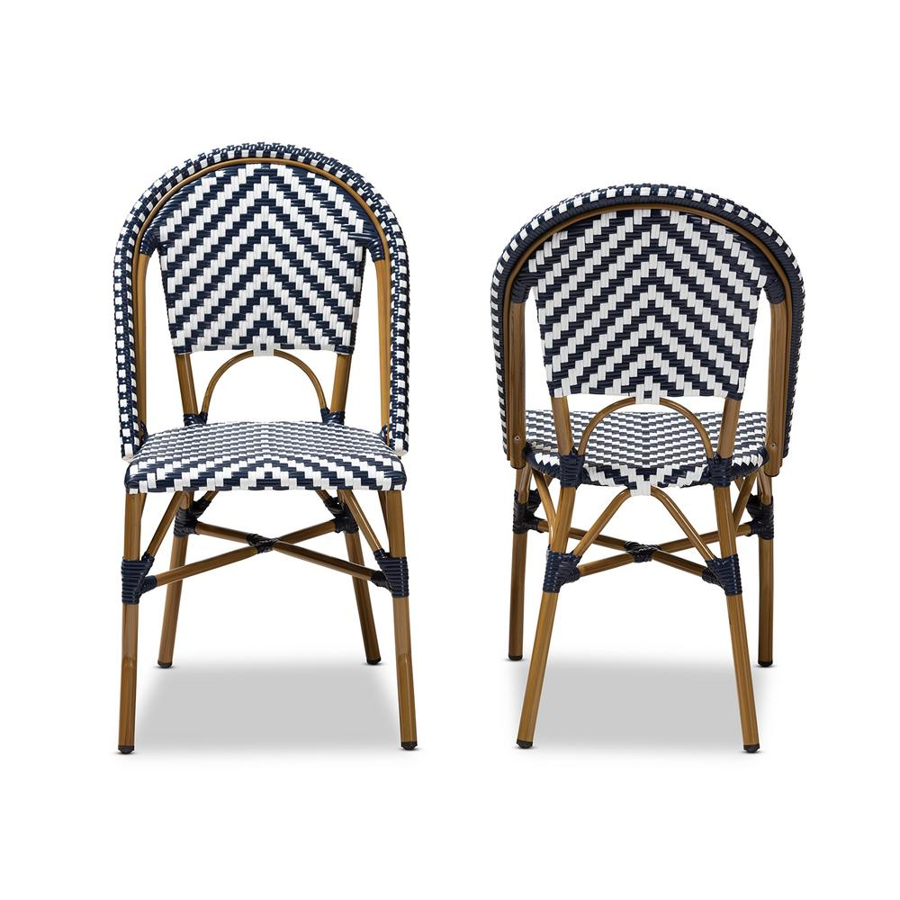 blue and white dining chairs graco blossom high chair winslet baxton studio celie set of 2 150 2pc