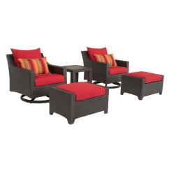Patio Club Chair Banquet Accessories Rst Brands Deco 5 Piece All Weather Wicker Deluxe Motion And