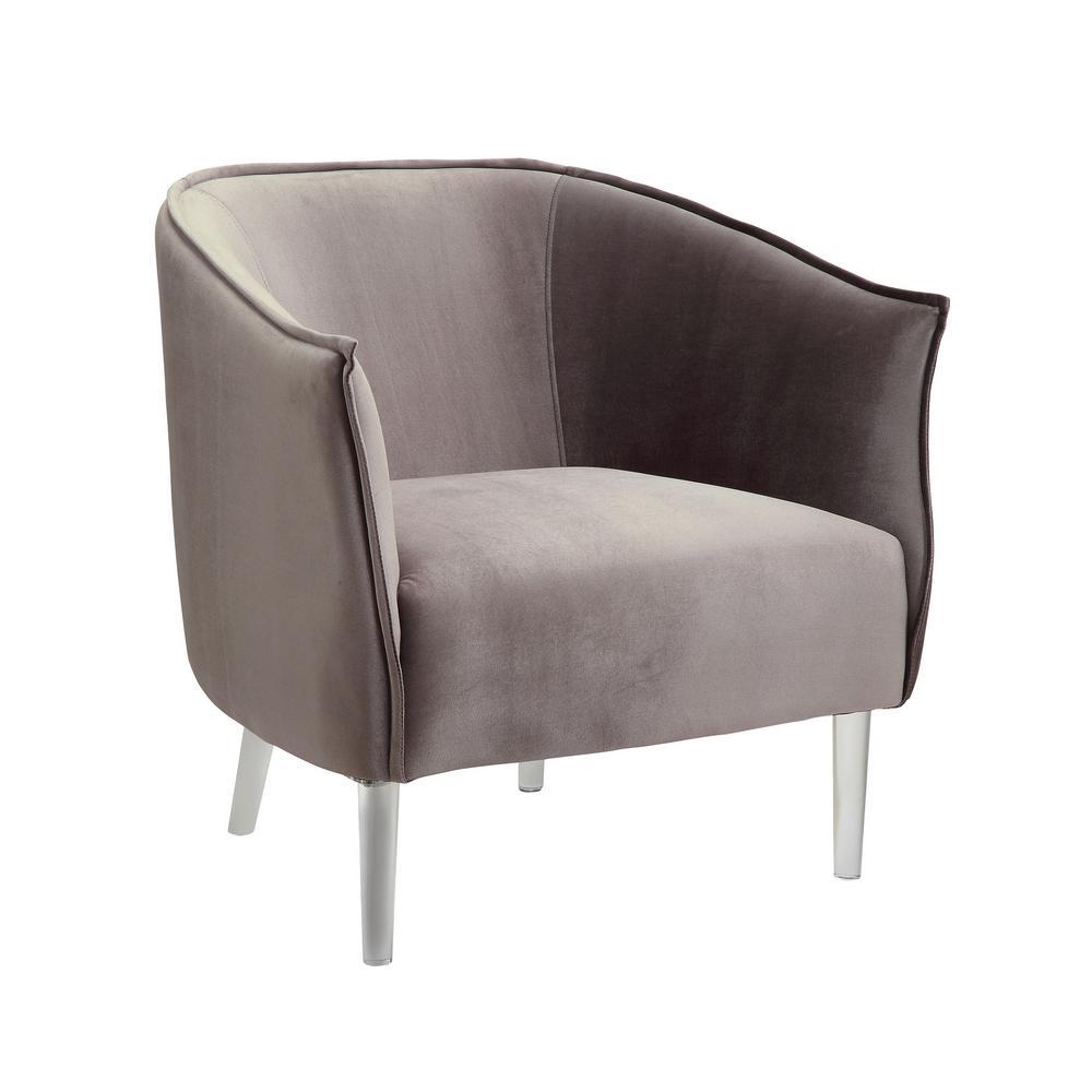 contemporary accent chair yugoslavian folding donostia gray finish cm ac6348gy the internet 307697379