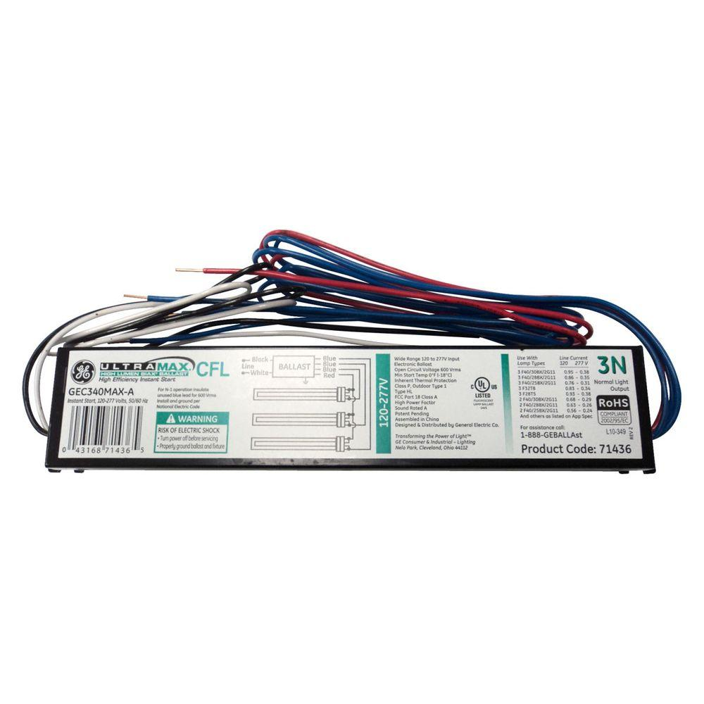 medium resolution of electronic ballast for 3 lamp compact fluorescent light bulbs fixture case of