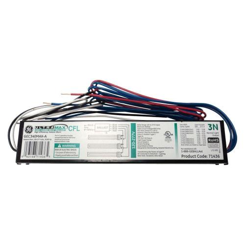 small resolution of electronic ballast for 3 lamp compact fluorescent light bulbs fixture case of