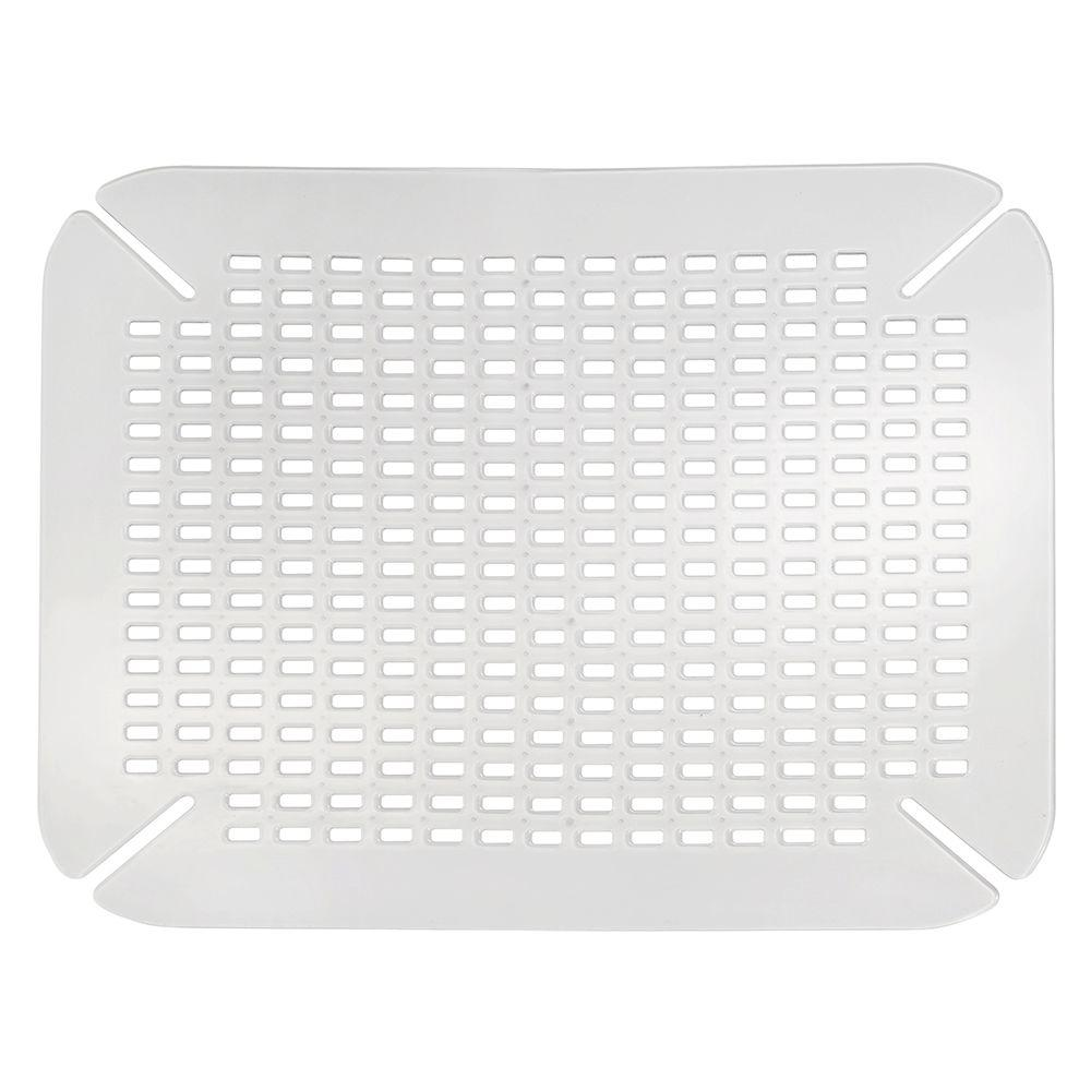 kitchen sink mats painted round table interdesign contour mat in clear 59060 the home depot