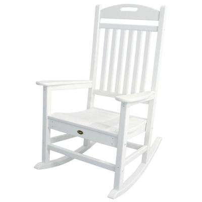 hard plastic outdoor rocking chairs short gym couleur chair white patio the home depot yacht club classic rocker