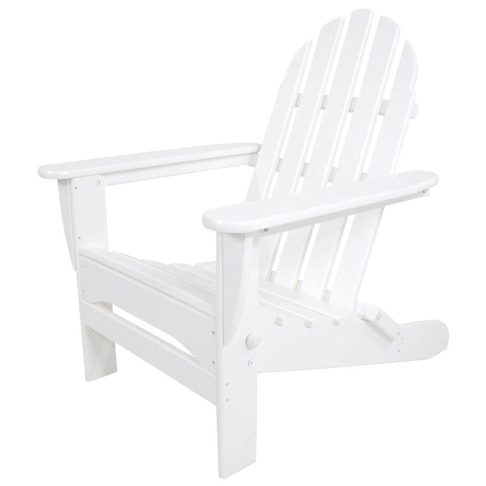 polywood classic adirondack chair cheap covers and linens white folding plastic ad5030wh