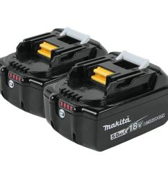 18 volt lxt lithium ion high capacity battery pack 5 0ah with led charge [ 1000 x 1000 Pixel ]