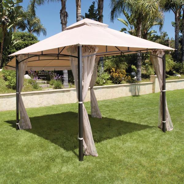 Hampton Bay Santa Maria 13 Ft. X 10 Roof Style Canopy Gazebo-5lgz6526-v4 - Home Depot