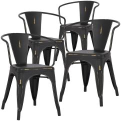 Distressed Black Dining Chairs Bar Images Poly And Bark Cantina Arm Chair Set Of 4 Hd 113 Dis Blk X4 The Home Depot