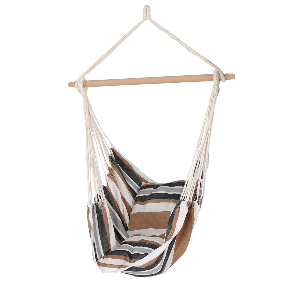 hanging chair decor pretty office sunnydaze 3 5 ft fabric hammock swing with two cushions in calming desert