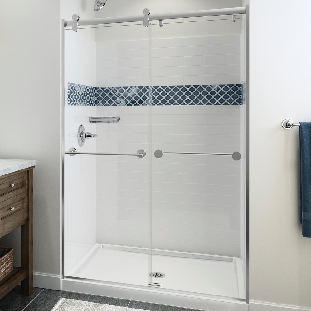 three piece direct to stud shower