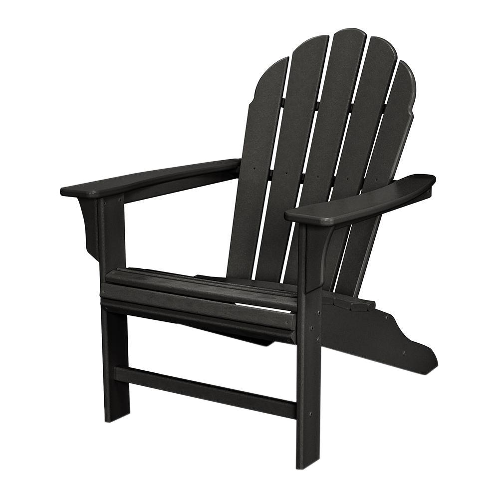 Weatherproof Adirondack Chairs Trex Outdoor Furniture Hd Patio Adirondack Chair In Charcoal Black