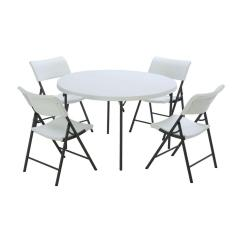 Folding Table And Chair Set Cedar Rocking Chairs Lifetime 5 Piece White 80411 The Home