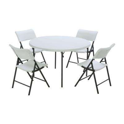 resin table and chairs set chair times vitra design museum plastic folding tables 5 piece white