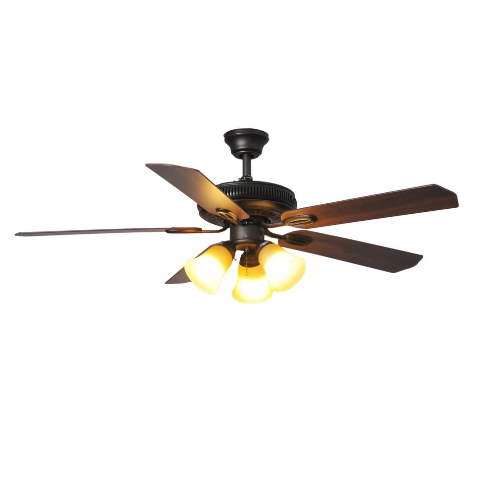 Hampton Bay Rockport 52 in. LED Oil Rubbed Bronze Ceiling