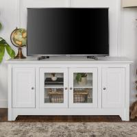 Walker Edison Furniture Company 52 in. White Wood TV Media ...