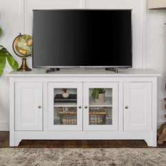 White Corner Units For Living Room Pics Of Nice Rooms Unit Tv Stands Furniture The Home Depot Wood Media Stand Storage Console